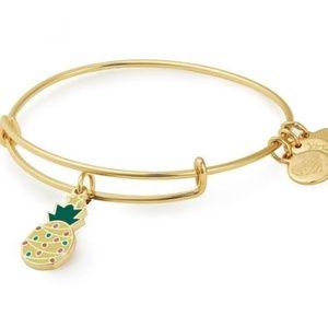 Christmas Pineapple Charm Bangle Bracelet